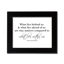 Compared to What Lies Within Us