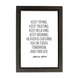 Keep Trying, Keep Trusting (Statement)