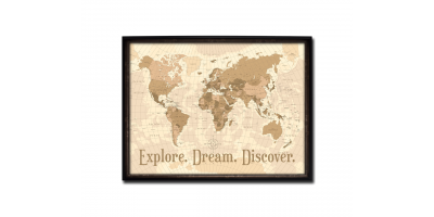 World Map (Explore, Dream Discover)