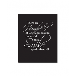 A Smile Speaks Them All (Print Only)