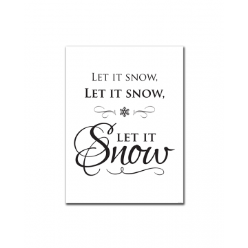 Let it Snow (Fancy) (Print Only)