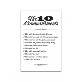 The 10 Commandments (Print Only)