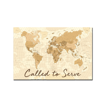 World Map (Antique), Called to Serve